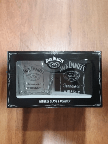 Footy Plus More + More Jack Daniels Whisky Glass and Coaster