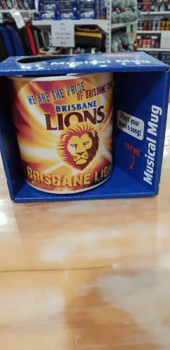 Footy Plus More mug Brisbane Lions musical mug