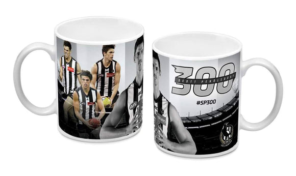 Footy Plus More mug Collingwood Magpies Scott Pendlebury 300 Games Mug