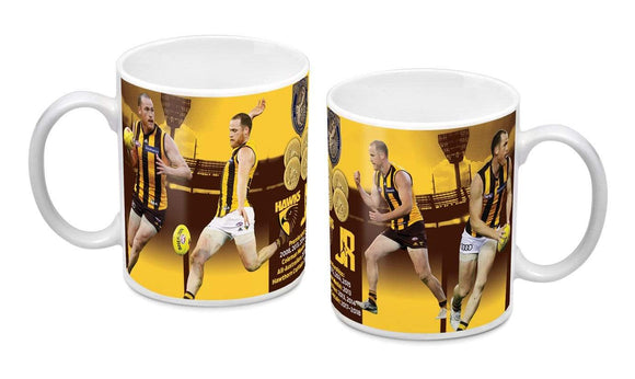 Footy Plus More mug Hawthorn Hawks Jarryd Roughead Retirement Range Mug