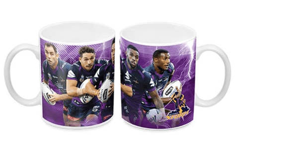 Footy Plus More mug Melbourne Storm 5 Player Mug with Smith Slater Cronk Addo-Carr and Vunivalu