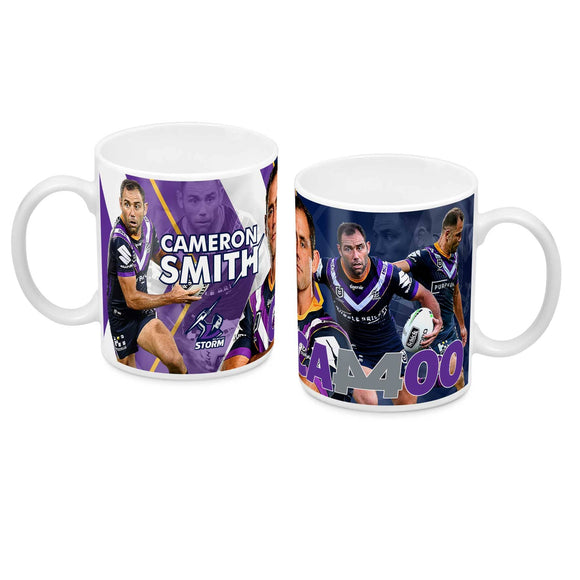 Footy Plus More mug Melbourne Storm Cameron Smith 400 Games Mug