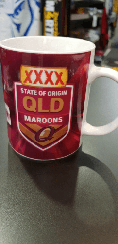 Footy Plus More mug Queensland Maroons State of origin coffee mug