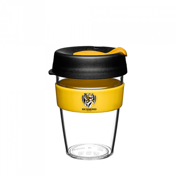 Footy Plus More mug Richmond Tigers Keep Cup Travel Mug Clear Edition 12oz/340ml