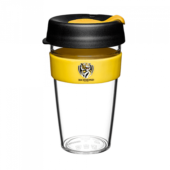 Footy Plus More mug Richmond Tigers Keep Cup Travel Mug Clear Edition 16oz/454ml