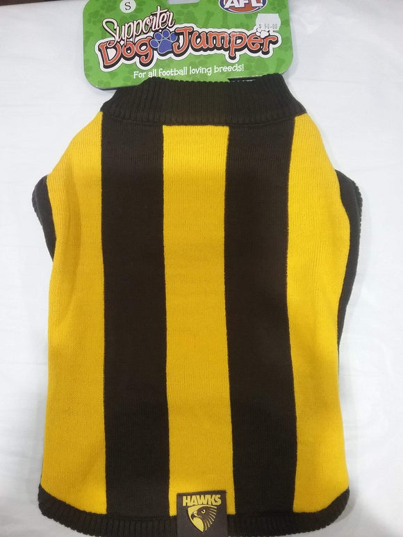 Footy Plus More pet Hawthorn Hawks Dog Jumper