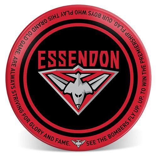 Footy Plus More Plate Essendon Bombers 20cm Melamine Plate