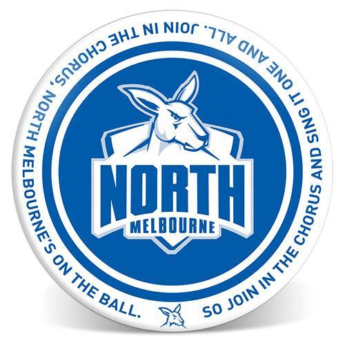 Footy Plus More Plate North Melbourne Kangaroos 20cm Melamine Plate