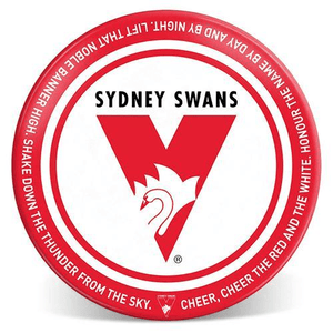 Footy Plus More Plate Sydney Swans 20cm Melamine Plate