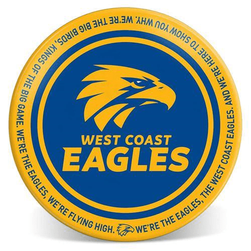 Footy Plus More Plate West Coast 20cm Melamine Plate