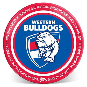Footy Plus More Plate Western Bulldogs 20cm Melamine plate