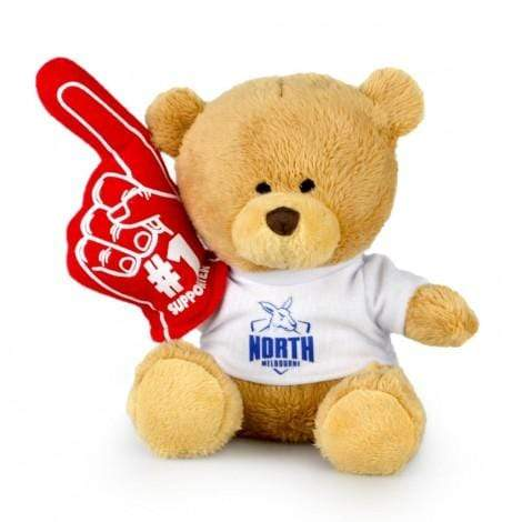 Footy Plus More plush North Melbourne Kangaroos No.1 Supporter Bear