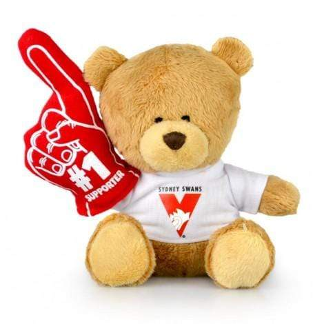 Footy Plus More plush Sydney Swans No.1 Supporter Bear