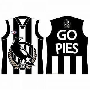 Footy Plus More Poster Collingwood Magpies Go Pies Guernsey Shaped Poster