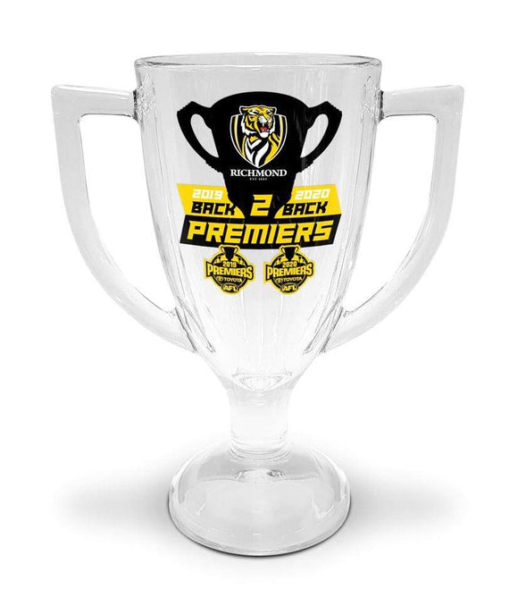 Footy Plus More Premiers 2020 2020 Richmond Tigers Trophy Glass