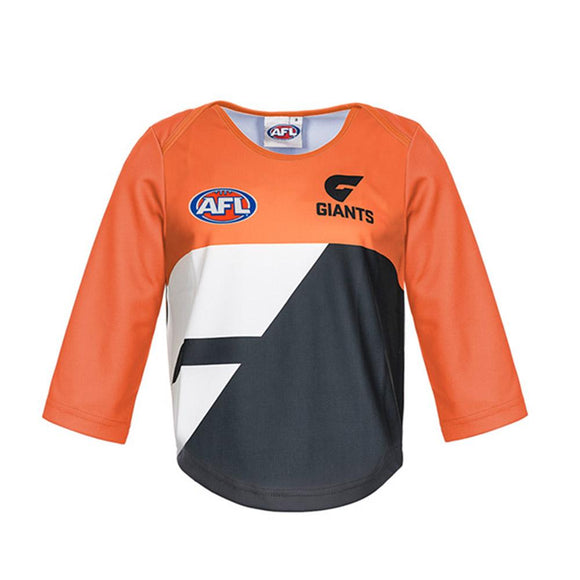 Footy Plus More REPLICA GUERNSEY 4 GWS Giants Short Sleeve Toddler Guernsey