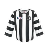 Footy Plus More REPLICA GUERNSEY Collingwood Magpies Infant Toddler Guernsey Long Sleeve