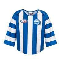 Footy Plus More replica gurnsey North Melbourne Kangaroos Infant Toddler Guernsey Long Sleeve