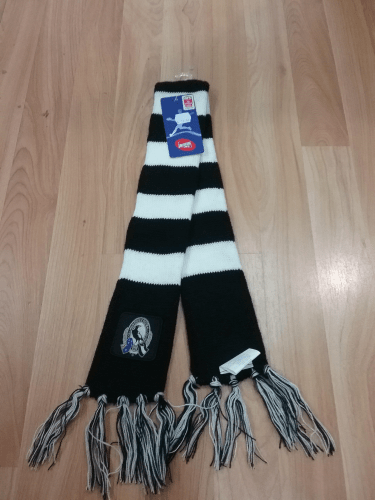 Footy Plus More SCARF Collingwood Magpies Infant Scarf