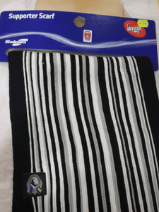 Footy Plus More SCARF Collingwood Magpies pin stripe scarf