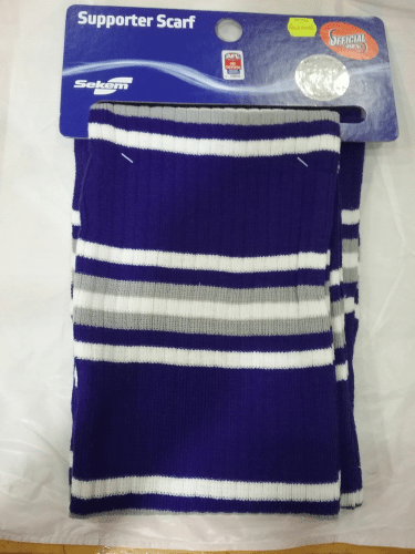 Footy Plus More SCARF North Melbourne Kangaroos knit loop scarf