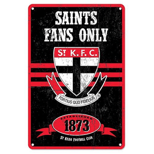 Footy Plus More Sign St Kilda Saints Retro Metal Sign