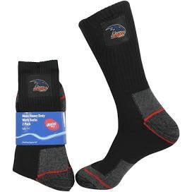 Footy Plus More SOCKS Adelaide Crows Mens Heavy Duty Work Socks 2 Pack