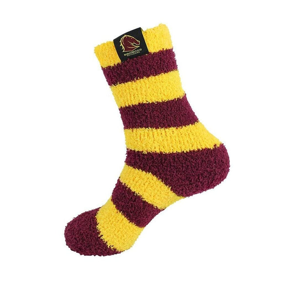 Footy Plus More Socks Brisbane Broncos Bed Socks