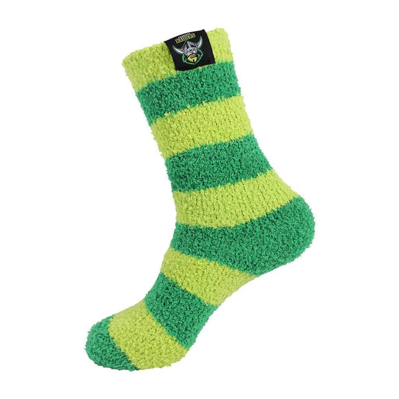 Footy Plus More Socks Canberra Raiders Bed Socks