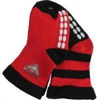 Footy Plus More SOCKS Essendon Bombers Non Slip 2 Pack Socks Logo Design