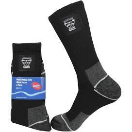 Footy Plus More SOCKS Geelong Cats Mens Heavy Duty Work Socks 2 Pack