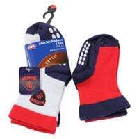 Footy Plus More SOCKS Melbourne Demons Non Slip Sock 2 Pack Logo Design
