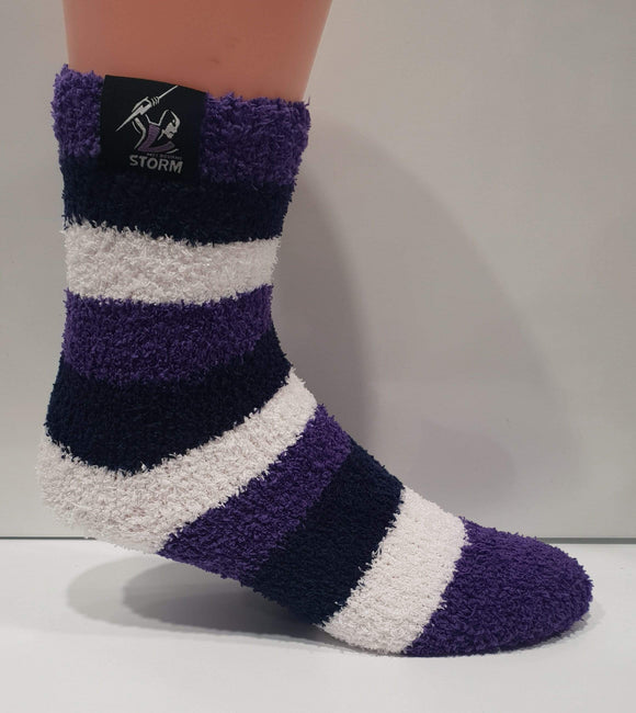 Footy Plus More SOCKS Melbourne Storm Bed Socks