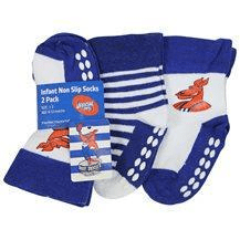 Footy Plus More SOCKS North Melbourne Kangaroos Infant Non Slip Sock 2Pack
