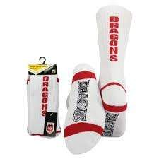 Footy Plus More Socks St George Dragons Crew Socks