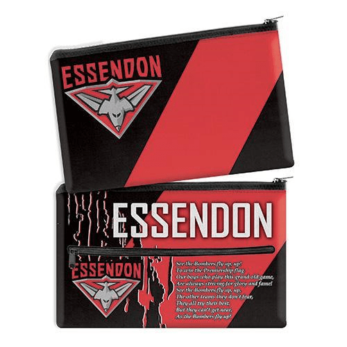 Footy Plus More stationery Essendon BombersTeam SongPencil Case