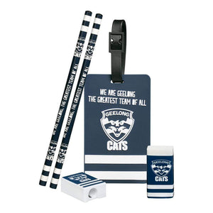 Footy Plus More stationery Geelong Cats Stationery and bag Tag Set