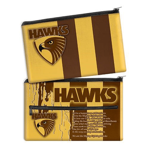 Footy Plus More stationery Hawthorn Hawks Team Song Pencil Case