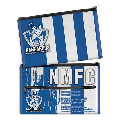 Footy Plus More stationery North MelbourneKangaroosSong Pencil Case