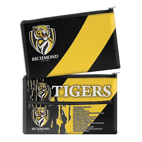 Footy Plus More stationery Richmond Tigers Team Song Pencil Case