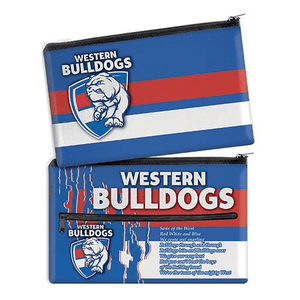 Footy Plus More stationery Western Bulldogs Team Song Pencil Case