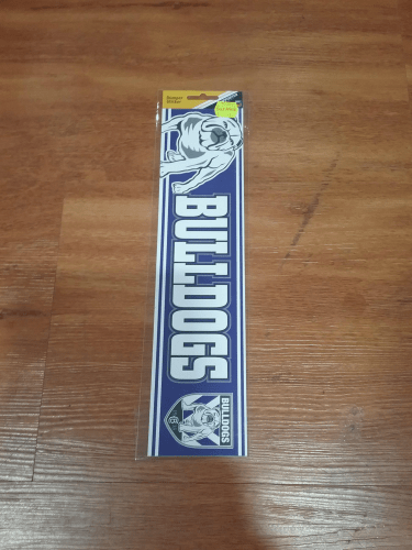 Footy Plus More sticker Canterbury-Bankstown Bulldogs bumper sticker