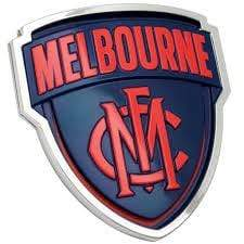 Footy Plus More sticker Melbourne Demons 3D Chrome Supporter Emblem