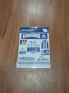 Footy Plus More sticker North Melbourne Kangaroos Stickers