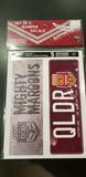 Footy Plus More sticker Queensland Maroons State of origin Set of 5 Bumper Decals