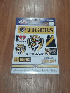 Footy Plus More sticker Richmond Tigers Stickers