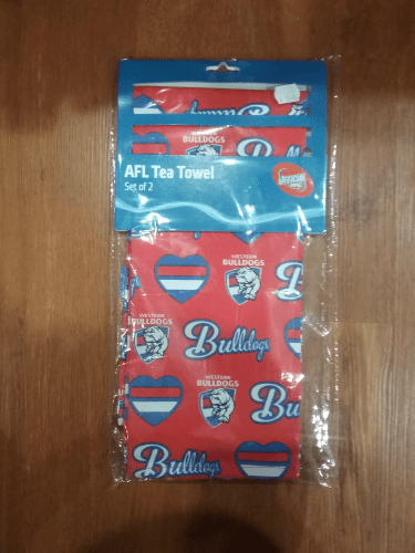 Footy Plus More tea towel Western Bulldogs Tea Towel