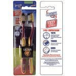 Footy Plus More toothbrushes Brisbane Lions 2 Pkt Toothbrush