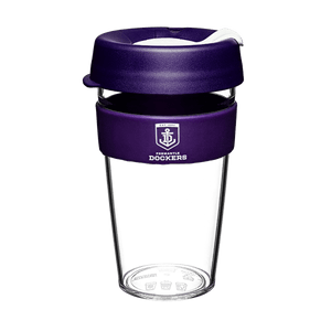 Footy Plus More travel mug Fremantle Dockers Keep Cup Travel Mug Clear Edition 16oz/454ml