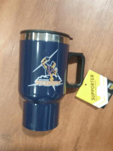 Footy Plus More travel mug Melbourne Storm Travel Mug with Handle